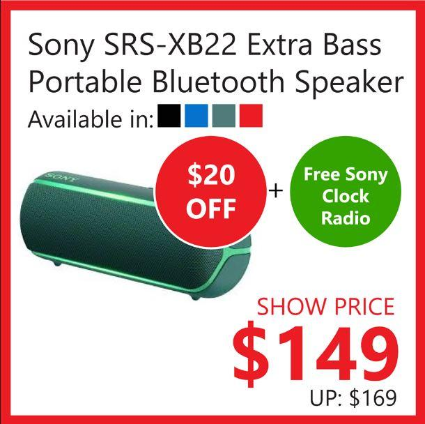 Sony Srs Xb22 Extra Bass Portable Bt Speaker Promotion At Challenger March 2020 Gotomalls