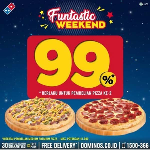 Promo Funtastic Weekend Dari Domino S Pizza Juli 2020 Gotomalls