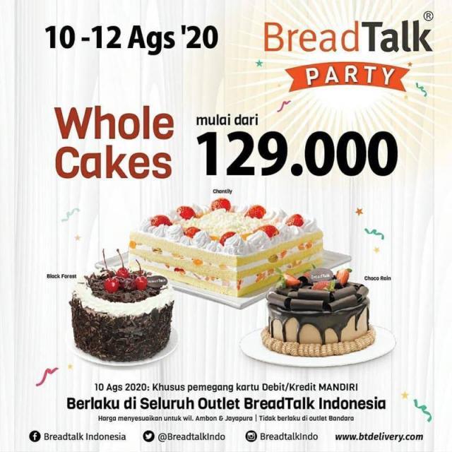 Harga Spesial Rp 129 000 Whole Cake Breadtalk Agustus 2020 Metro Kebayoran