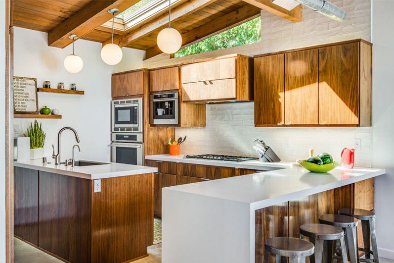 189+ Contoh Desain Dapur Nuansa Kayu Paling Hist