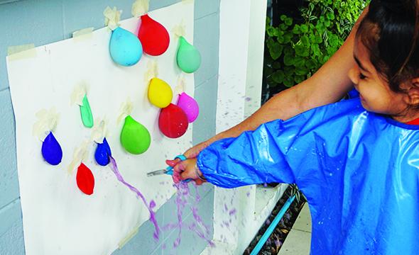 Balloon popping art