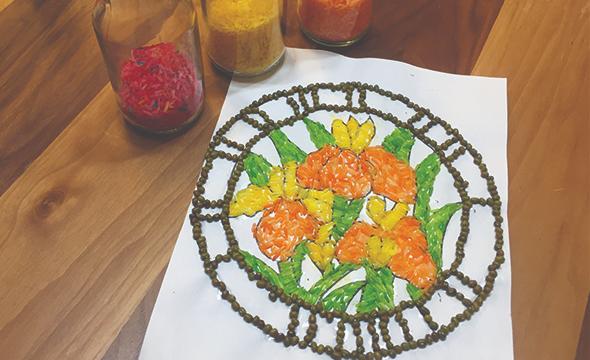 Bean and grain mosaic