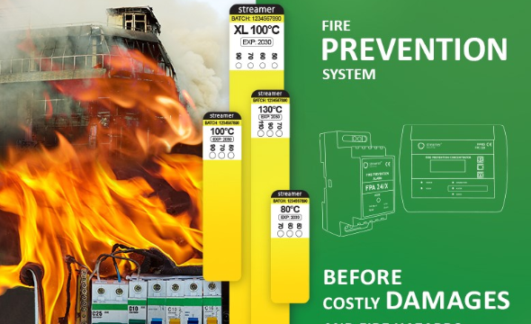 Fire prevention & overheating monitoring system