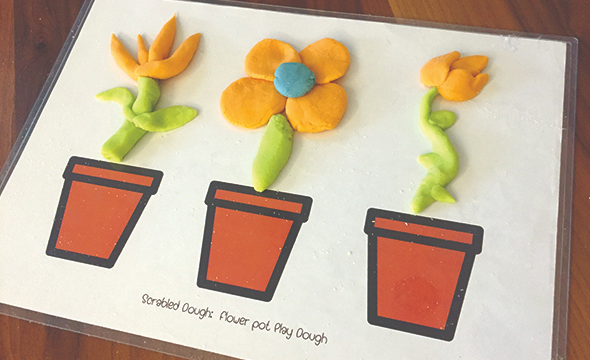 Flower pot playmat