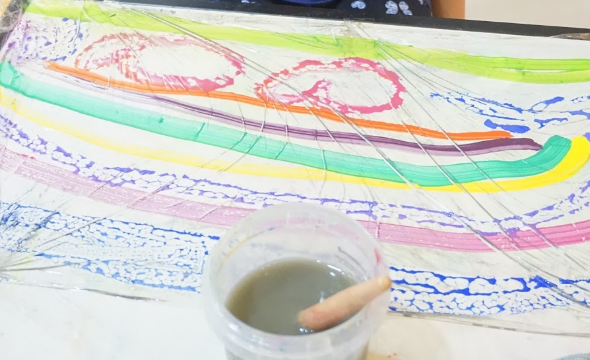 Food wrap painting