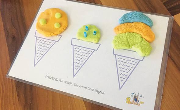 Ice-cream playmat