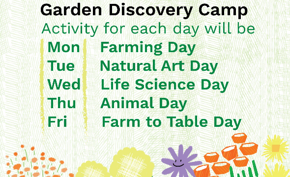 Messy peas - garden discovery camp