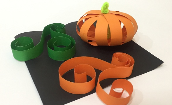 Pumpkin strip paper