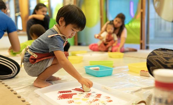 Wild art & sensory fun activity playgroup