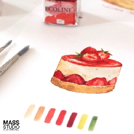 Watercolor workshop : dessert