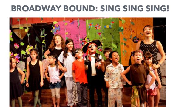 Broadway bound: sing sing sing!