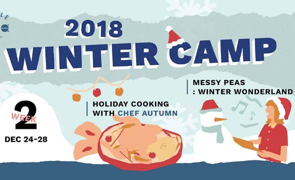 Week2 winter camp - messy peas: winter wonderland