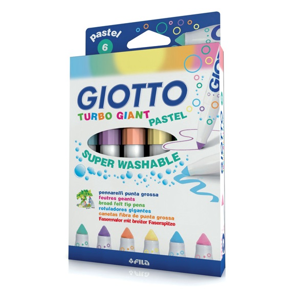 Giotto turbo giant pastel x6