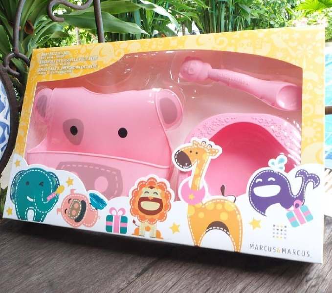 Baby feeding gift set - pink (pokey the pig)