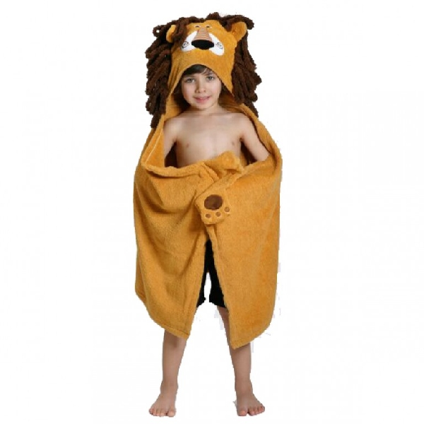 Kids hooded towels - leo the lion