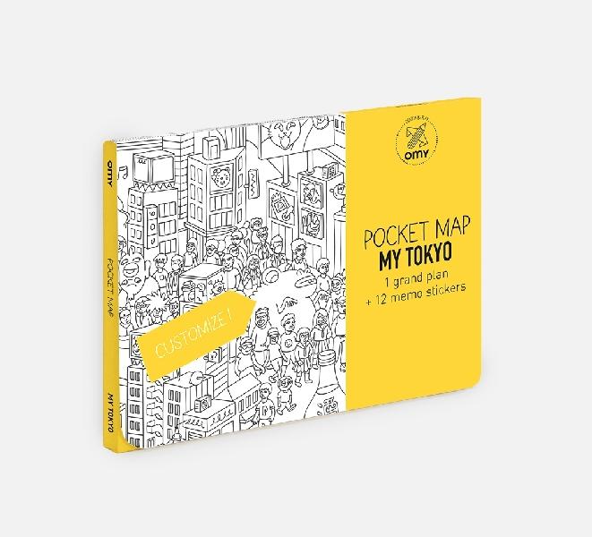 Coloring pocket map - tokyo