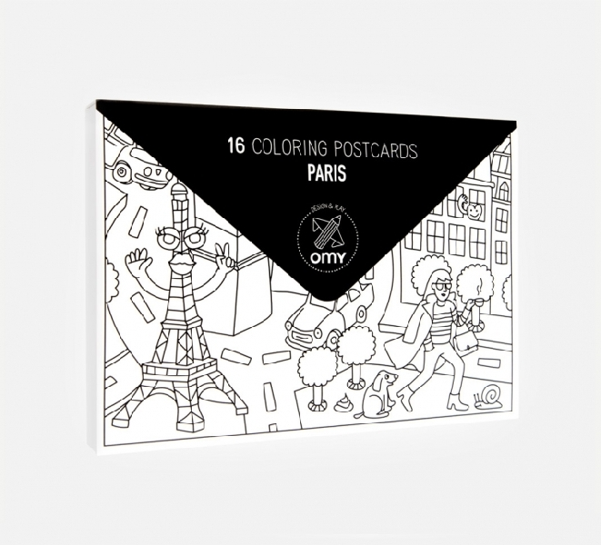 Coloring pocket map - france