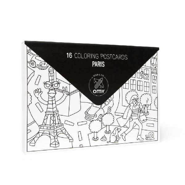 Pack of 16 postcards - paris