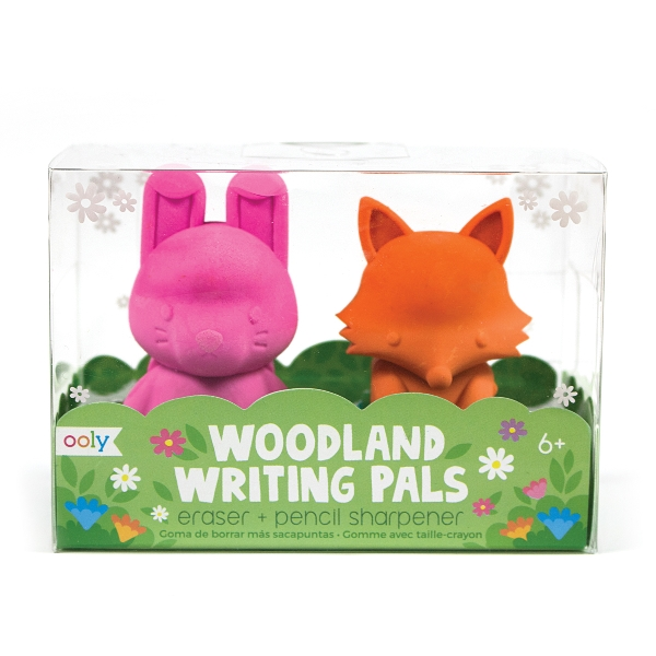 Woodland writing pals - eraser & sharpener