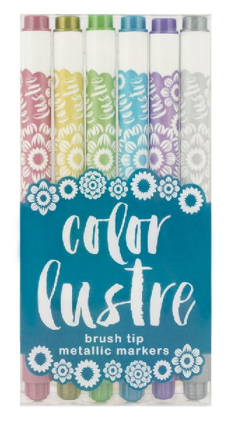 Color luster metallic markers (6 colors)