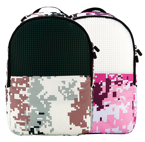 Upixel camo force backpack( pink+black)