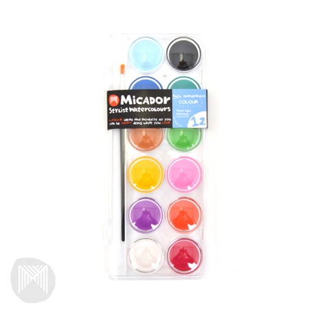 Watercolour palette stylist, disc 12 micador