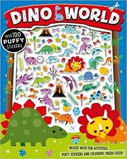 Dino world puffy sticker activity book