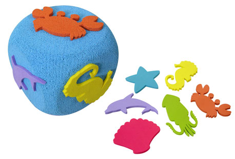 Floating sea animals set