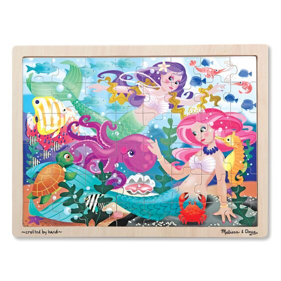 Wooden jigsaw puzzle mermaid 48 pc