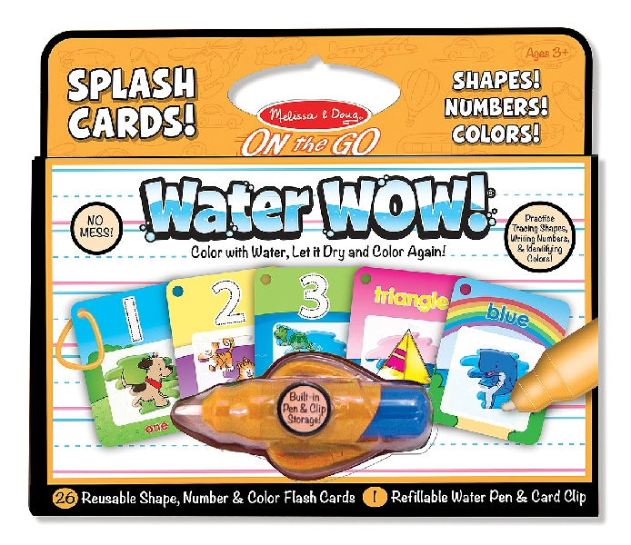 Water wow! number, color, shape cards