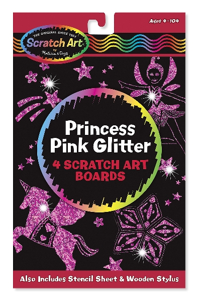 Scratch art princess glitter