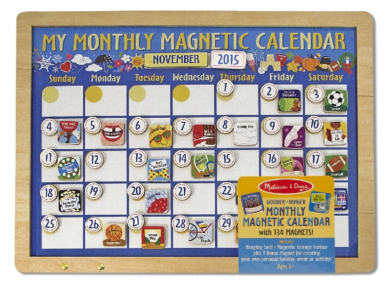 My monthly magnetic calendar