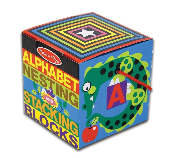 Alphabet stacking & nesting blocks