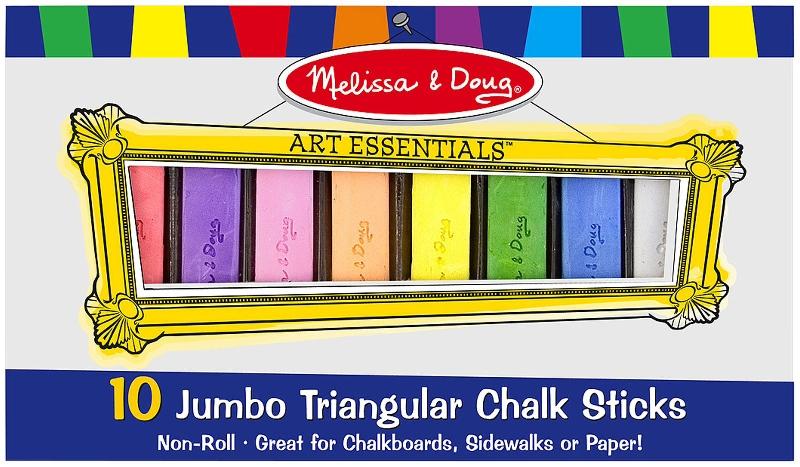 10 jumbo triangular chalk