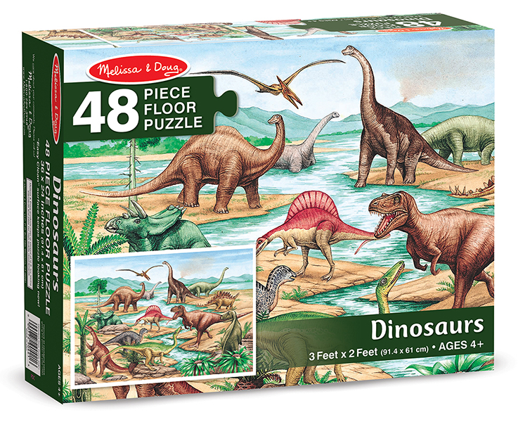 Floor puzzle dinosaurs 48pc