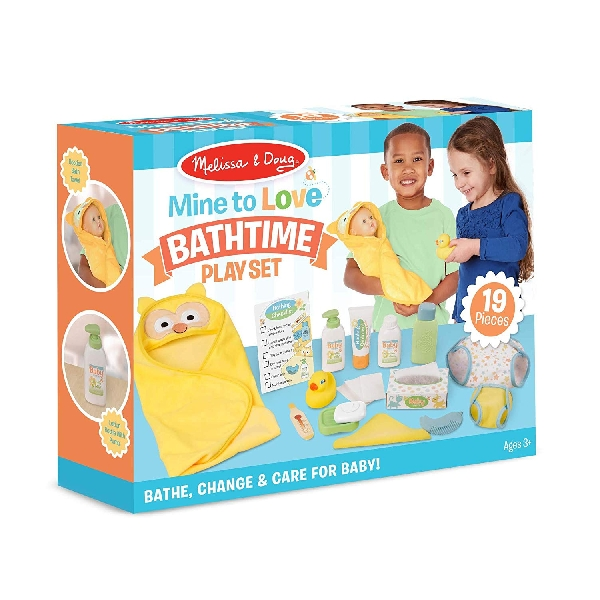 Baby care - changing & bath time play set