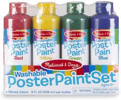 washable poster paint set