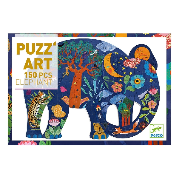 150 piece art puzzle - elephant