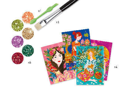 Glitter art workshop - the scent of flowers