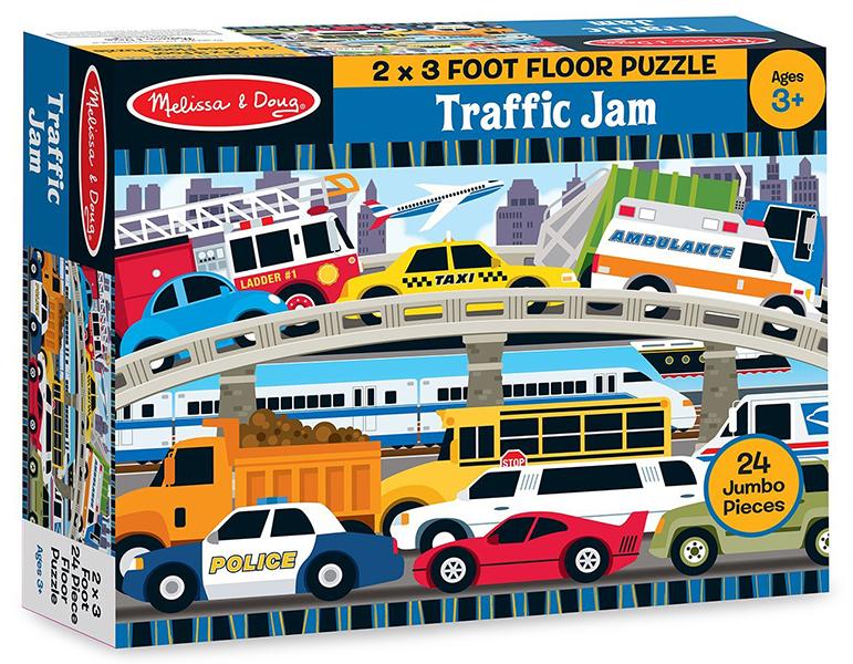 floor puzzle traffic jam 24 pc