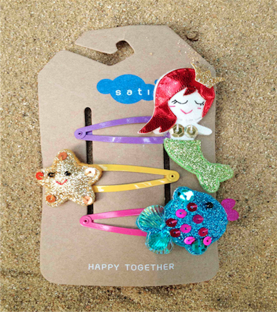 Sati lc042 hair clip mermaid and the gang