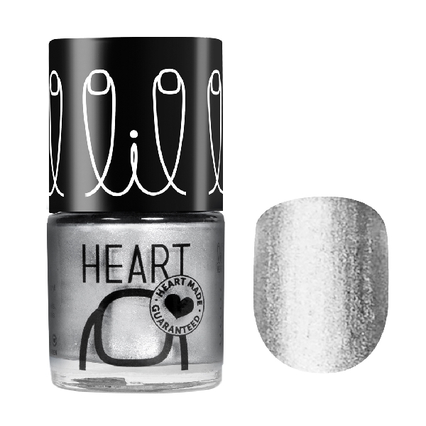 Little heart nail color frosty silver 13