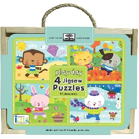 Jigsaw puzzle box - play day