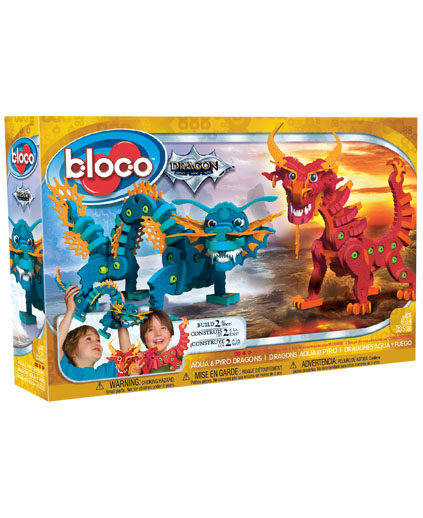 Bloco - aqua and pyro dragon