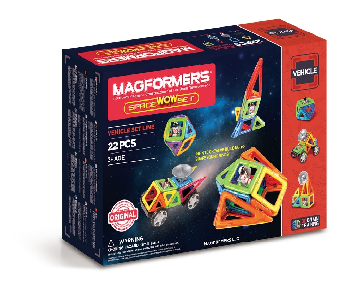 Magformers vehicle set - space wow set 22 pcs2