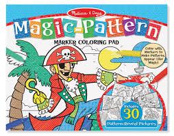 Magic pattern coloring pad blue