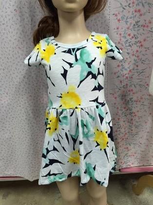 Girl's dress (yellow flower)
