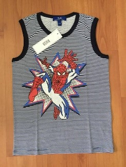 Boy's shirt (blue) spider man