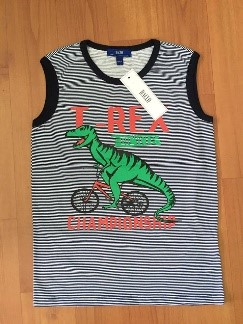 Boy's shirt (blue) dinosaur