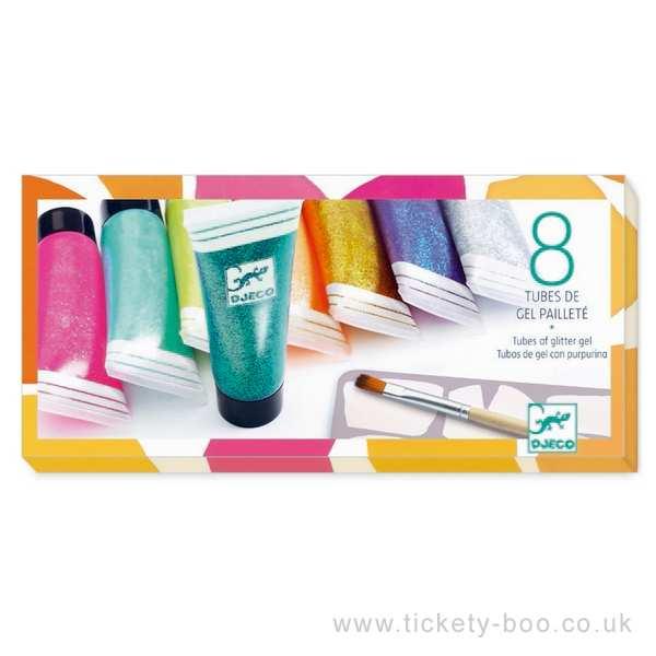 8 tubes of glitter gel